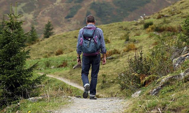 turista na procházce