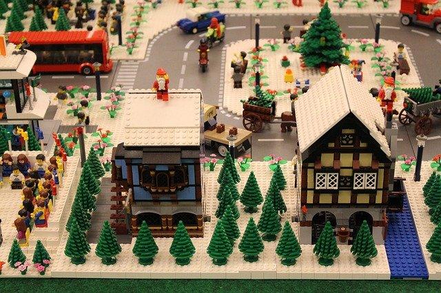 vánoční lego městečko