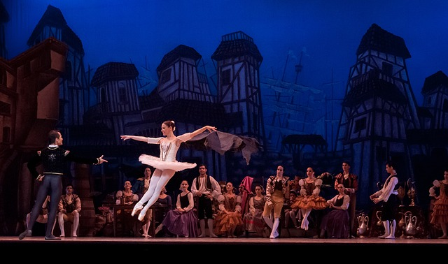 skupinové baletní vystoupení