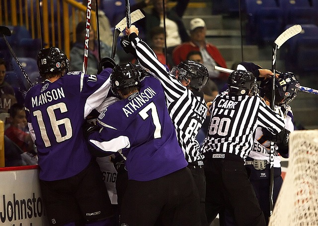 boj hokejistů