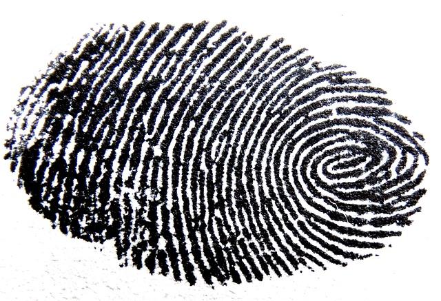 černý otisk prstu