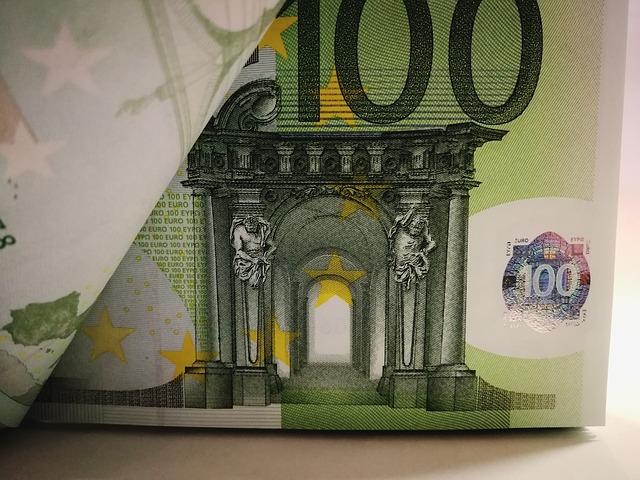 detail euro bankovky