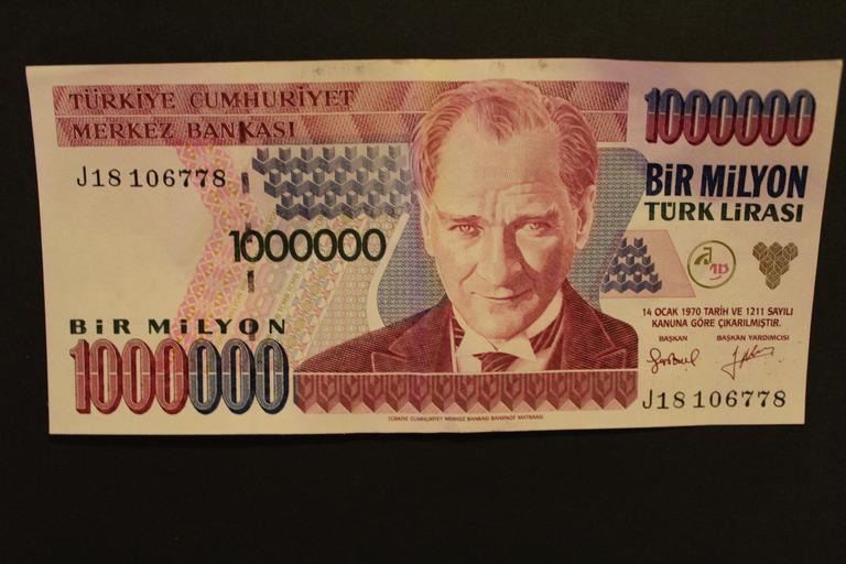 turecký milion