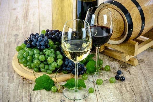 Vína různých barev