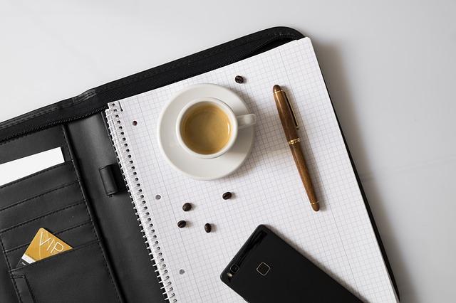 vizitka a káva